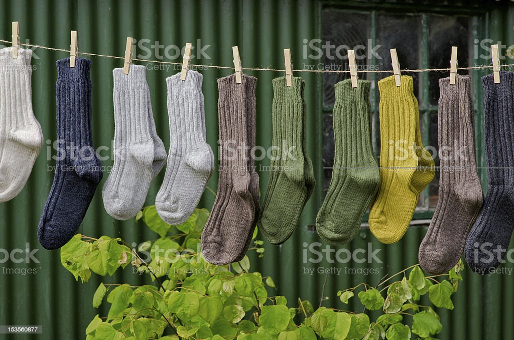 Winter socks royalty-free stock photo
