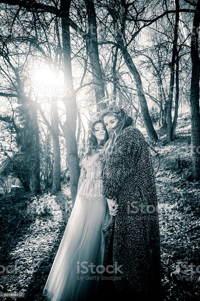 Winter Solstice: Yule Couple stock photo