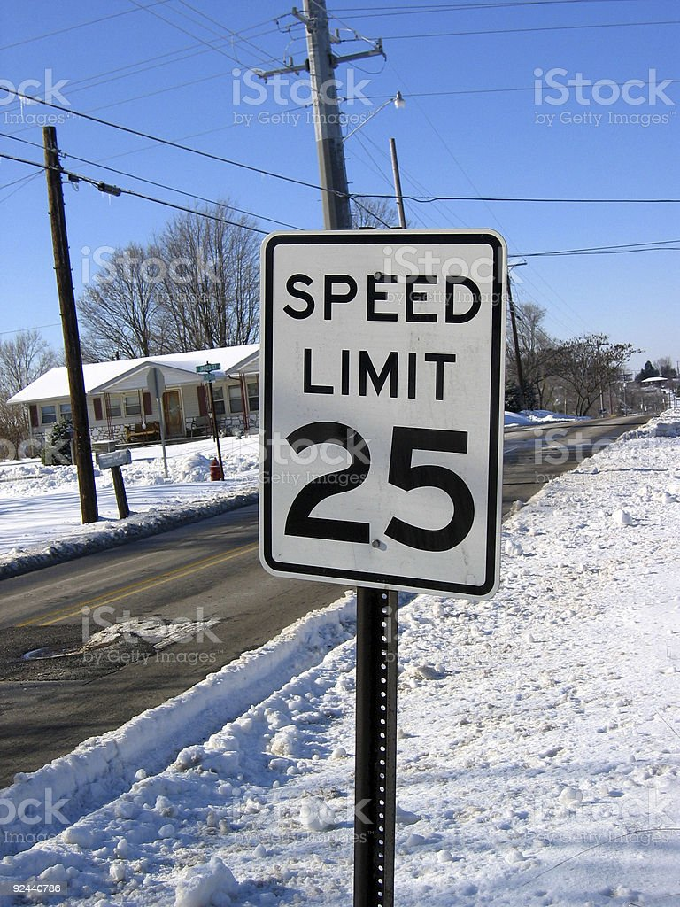 Winter Speed Control royalty-free stock photo