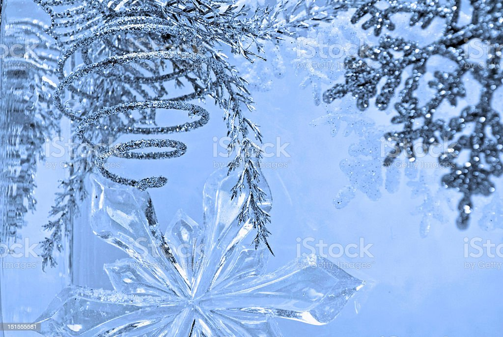winter spiral blue by Lisa Woodburn royalty-free stock photo