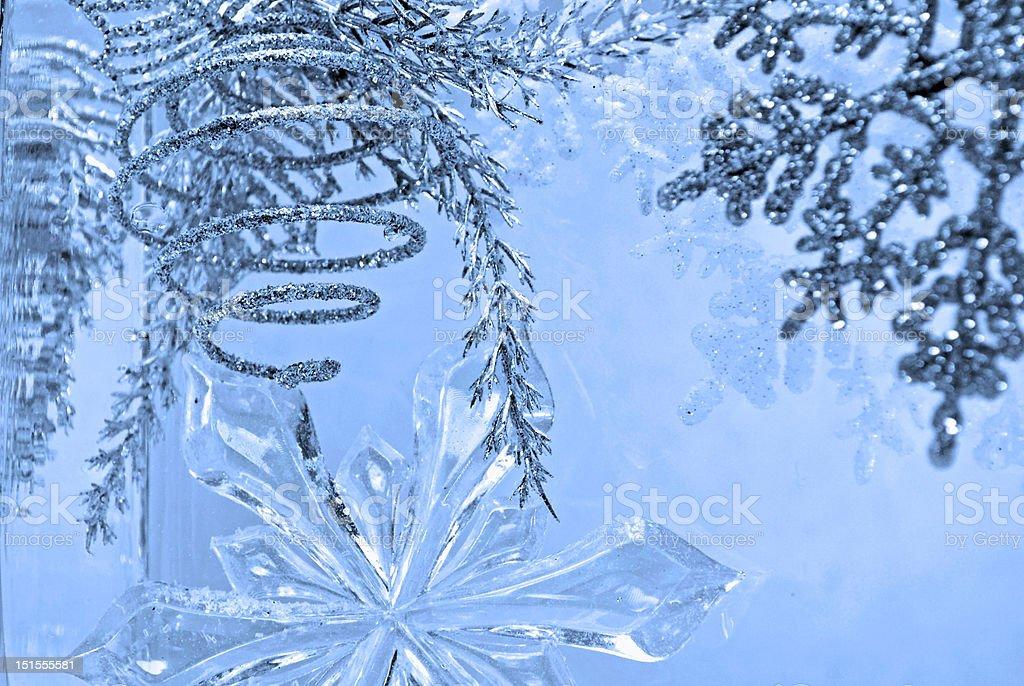 winter spiral blue by Lisa Woodburn stock photo