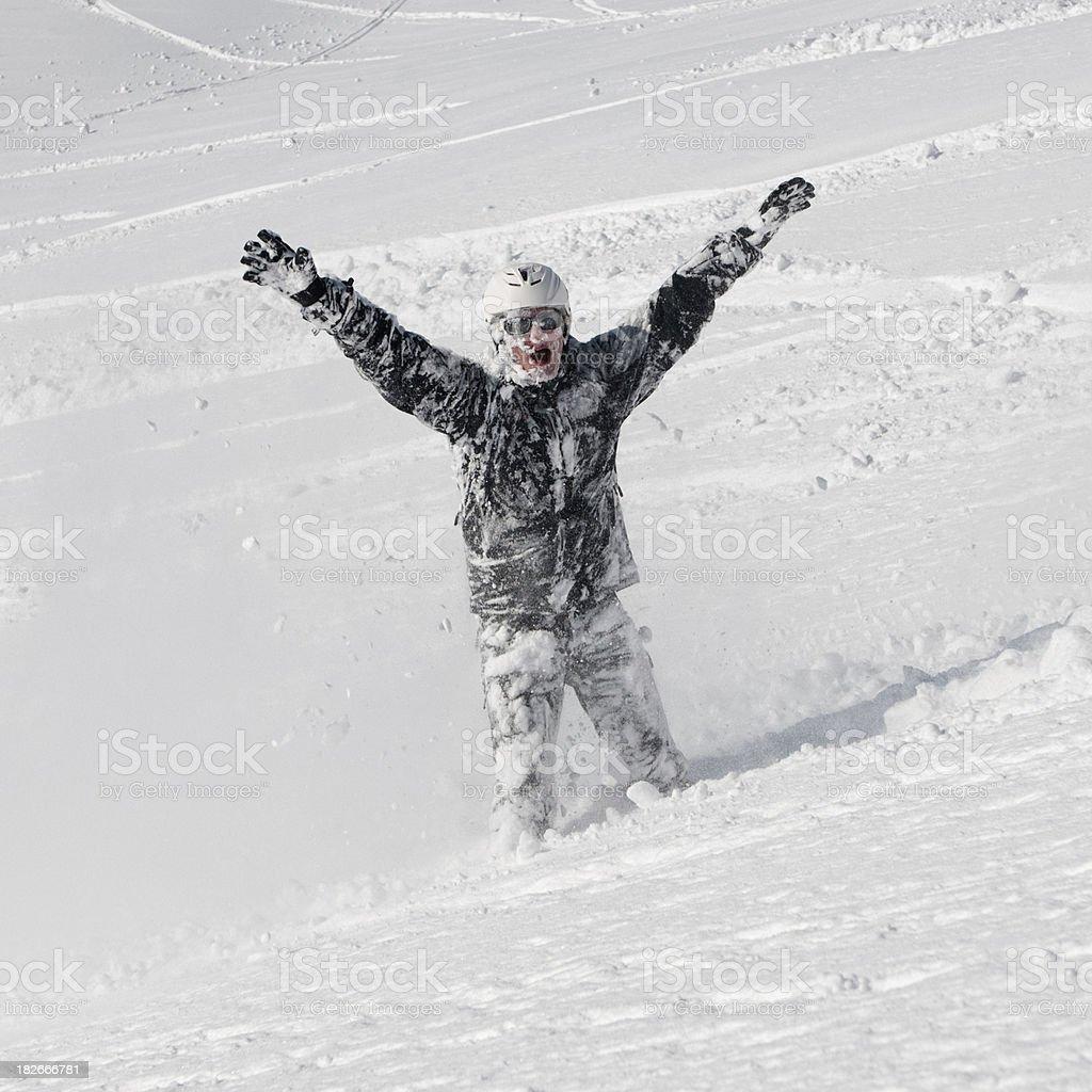 Winter Sport Crash (XXL) royalty-free stock photo