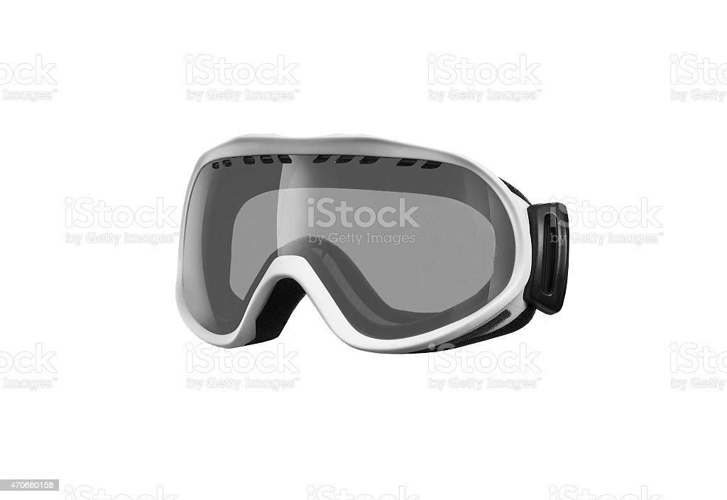 Winter sport glasses isolated stock photo