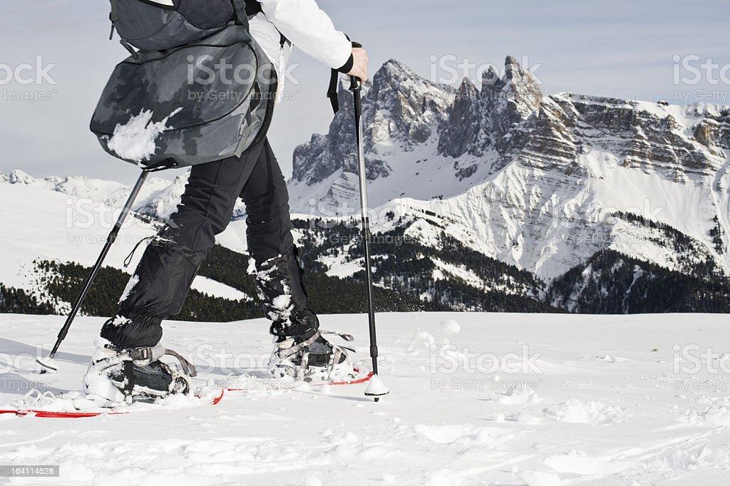 Winter Sport in the Alps stock photo