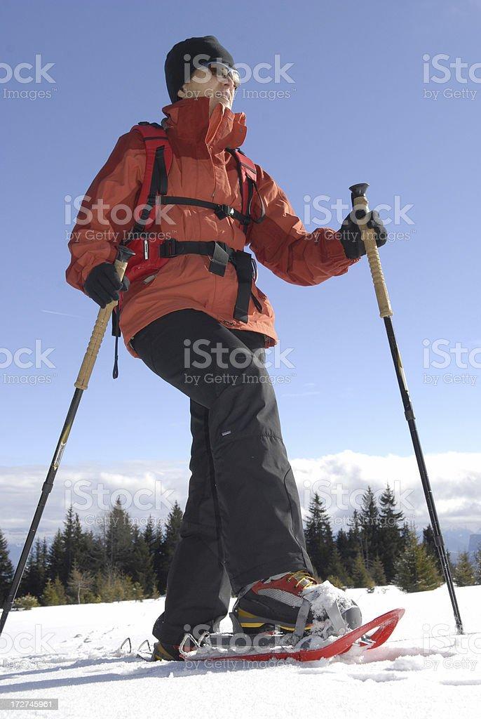 winter sport snow walking royalty-free stock photo