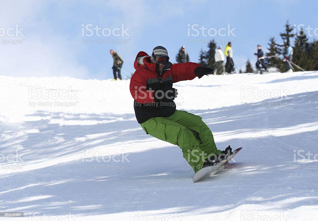 Winter sport snowboarding royalty-free stock photo