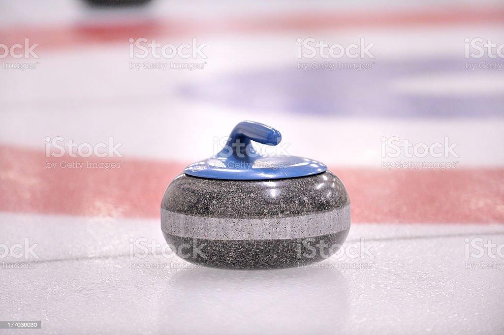 Winter Sport-Curling, the granite Rock stock photo