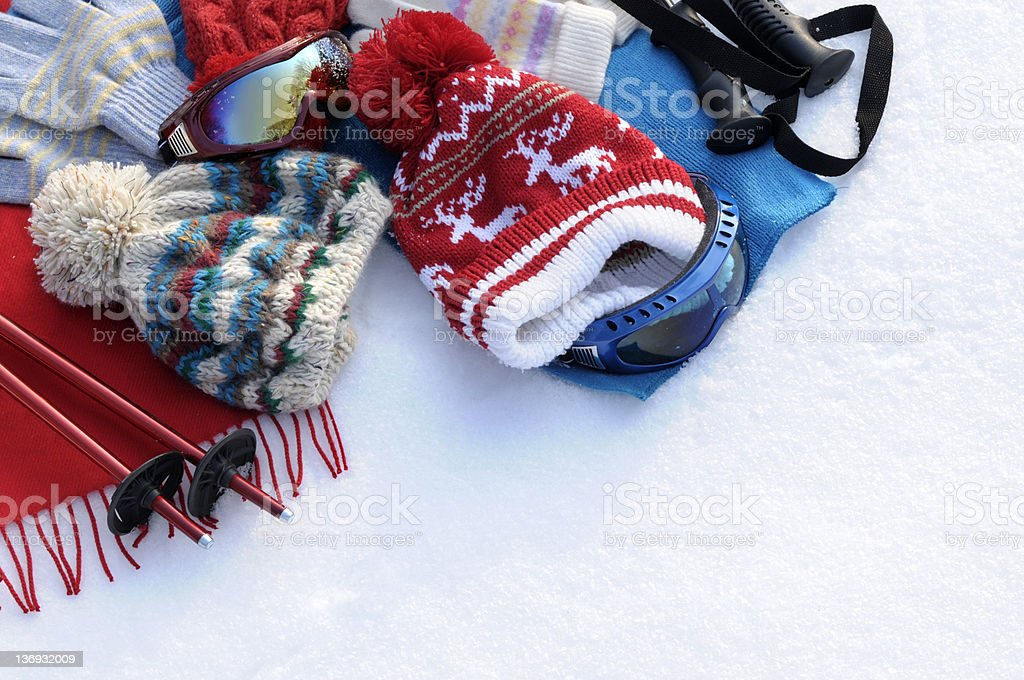 Winter sports background royalty-free stock photo
