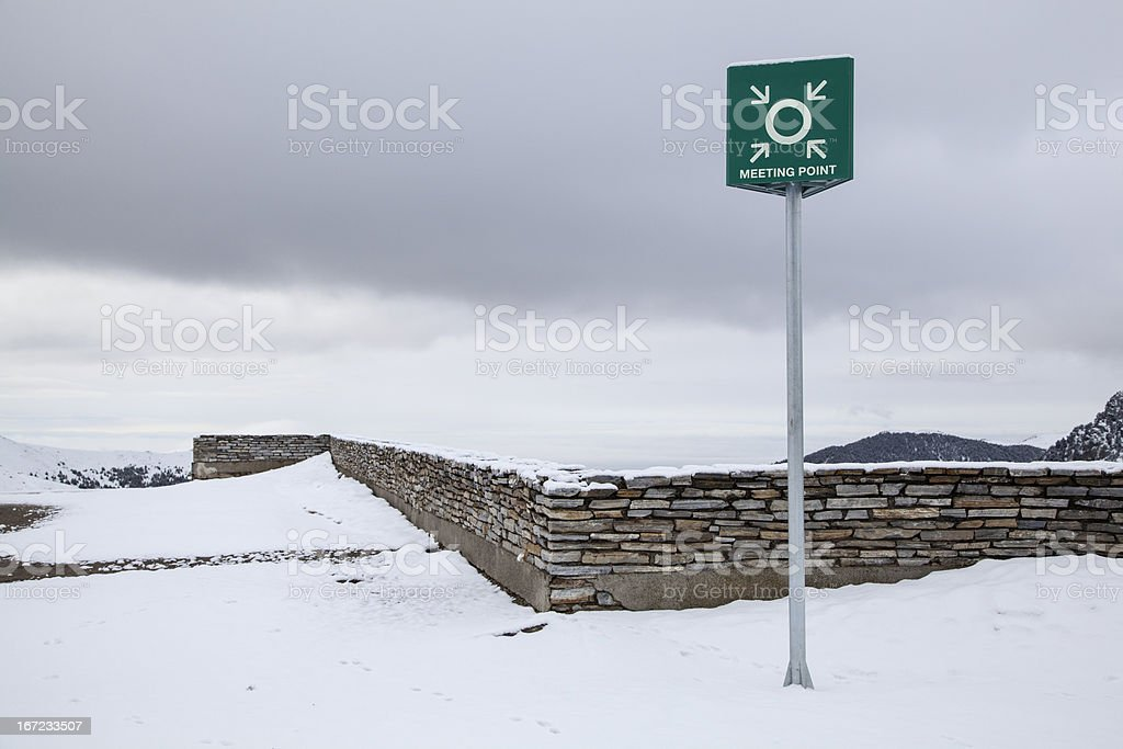 Winter sports meeting Point royalty-free stock photo
