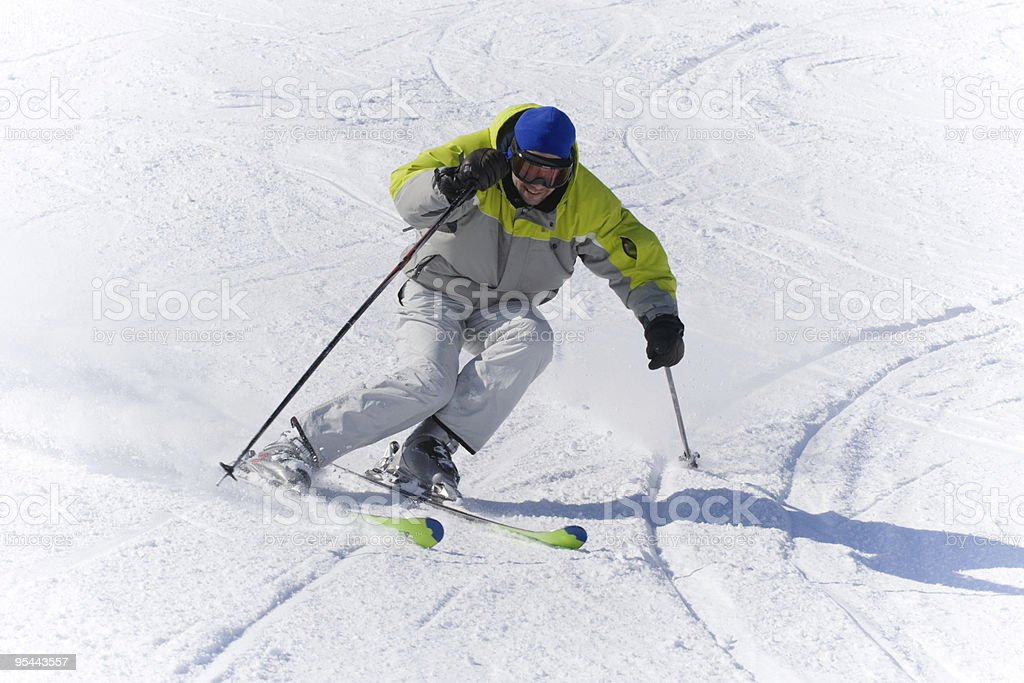 Winter sports Skier high speed royalty-free stock photo