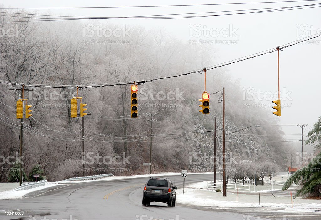 Winter Steet royalty-free stock photo