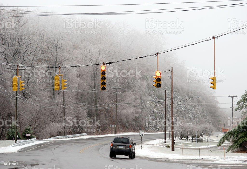 Winter Steet stock photo