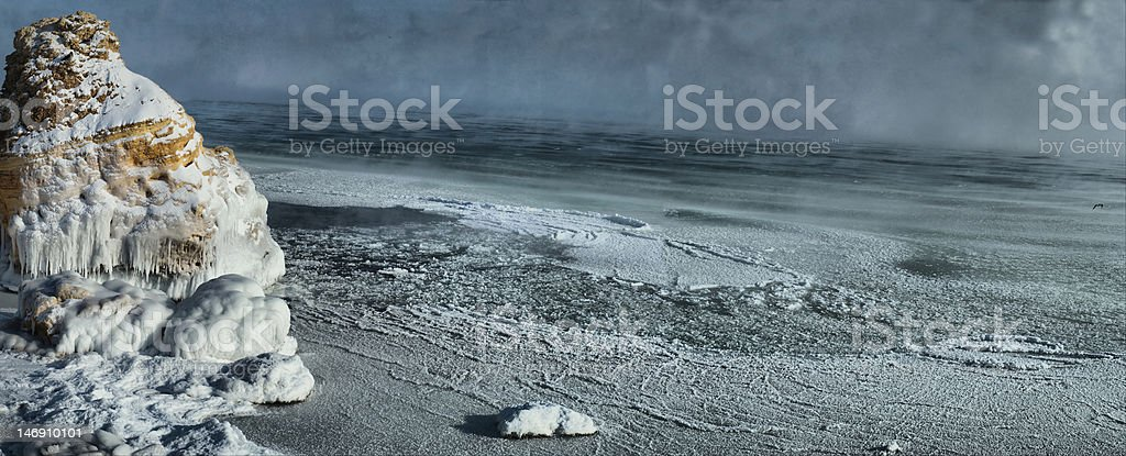 Winter storm on Black sea,Odessa (hdr) royalty-free stock photo