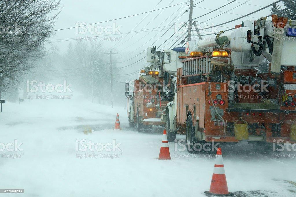 winter storm stock photo