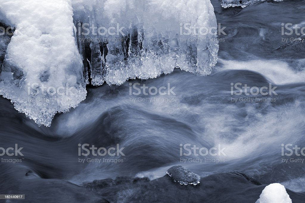 Winter stream candles royalty-free stock photo