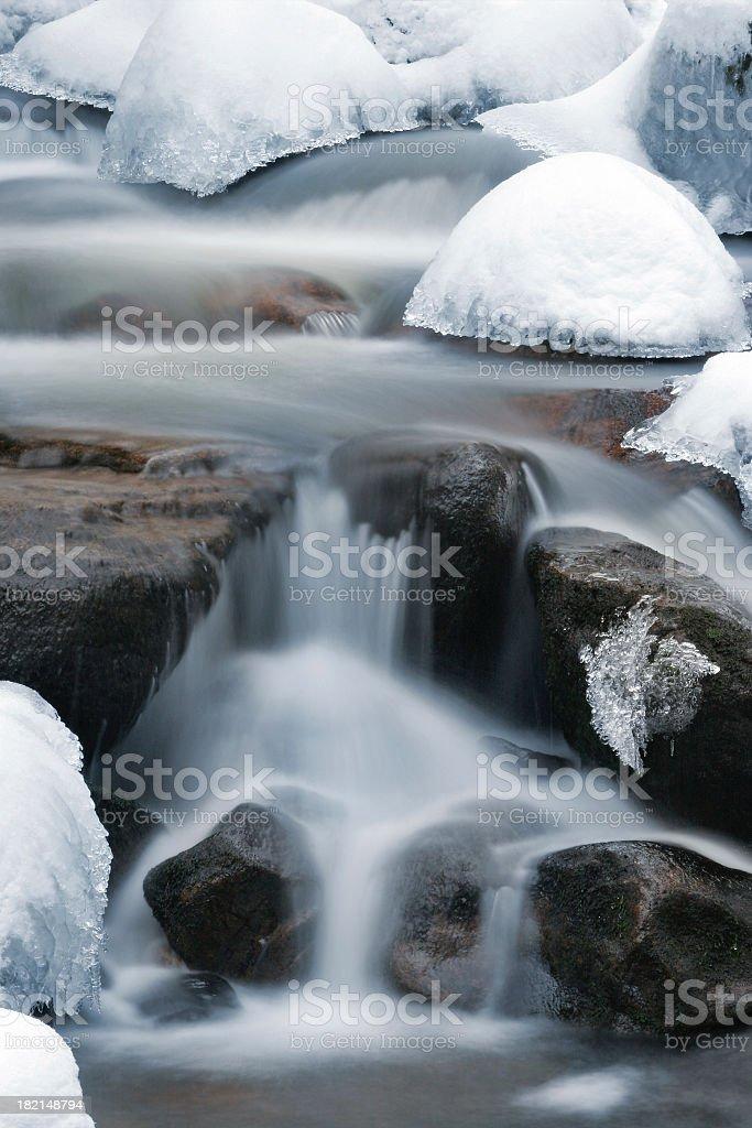 Winter Stream III stock photo