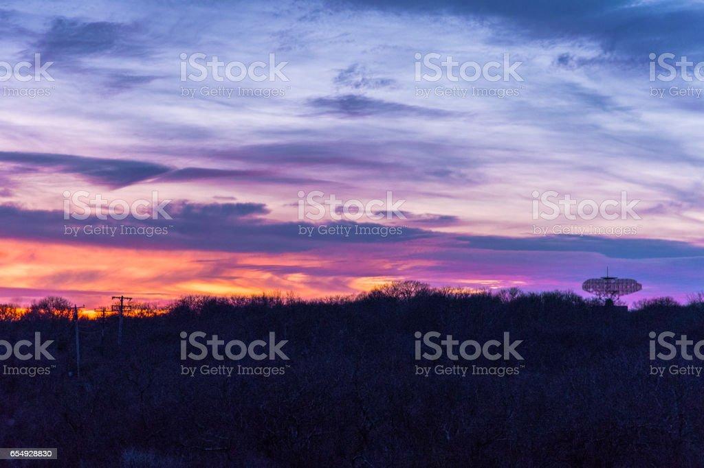 Winter Sunset in Montauk Point stock photo