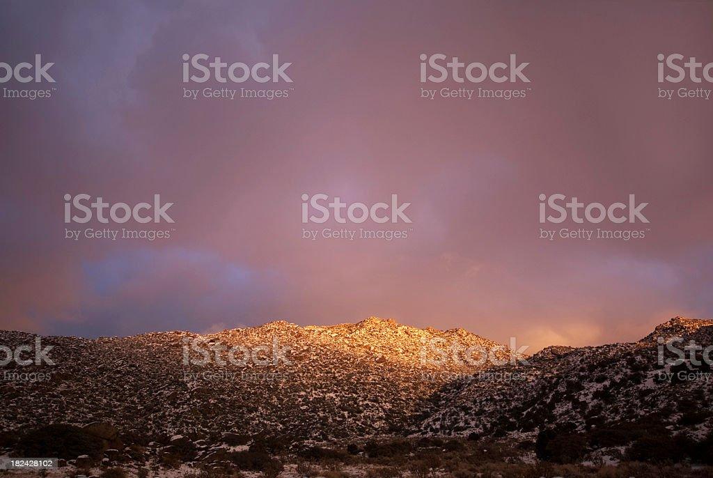 winter sunset landscape mountain sky royalty-free stock photo
