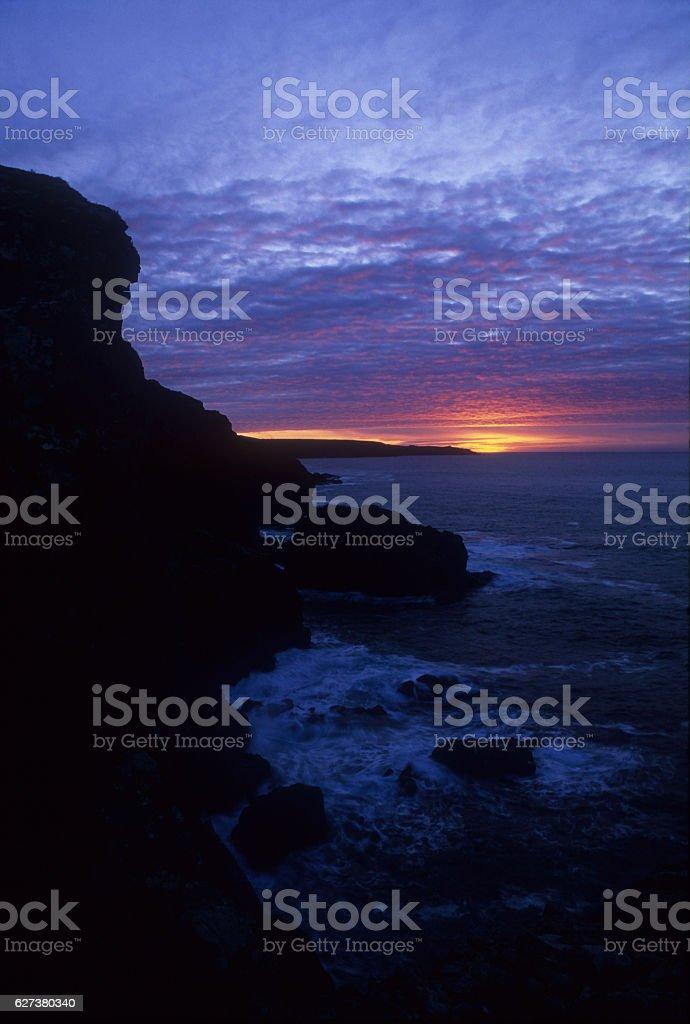 Winter Sunset Penwith stock photo