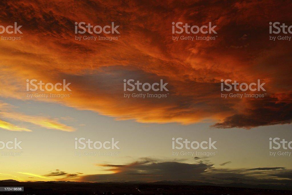 Winter Sunset stock photo