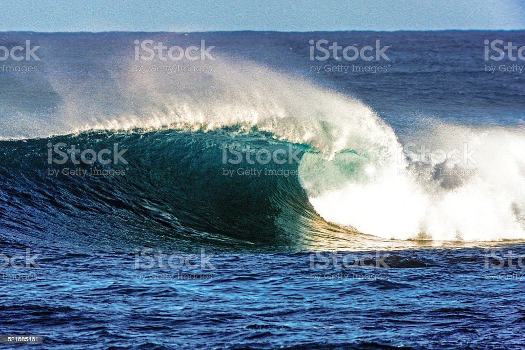 Winter surf at Sunset Beach stock photo