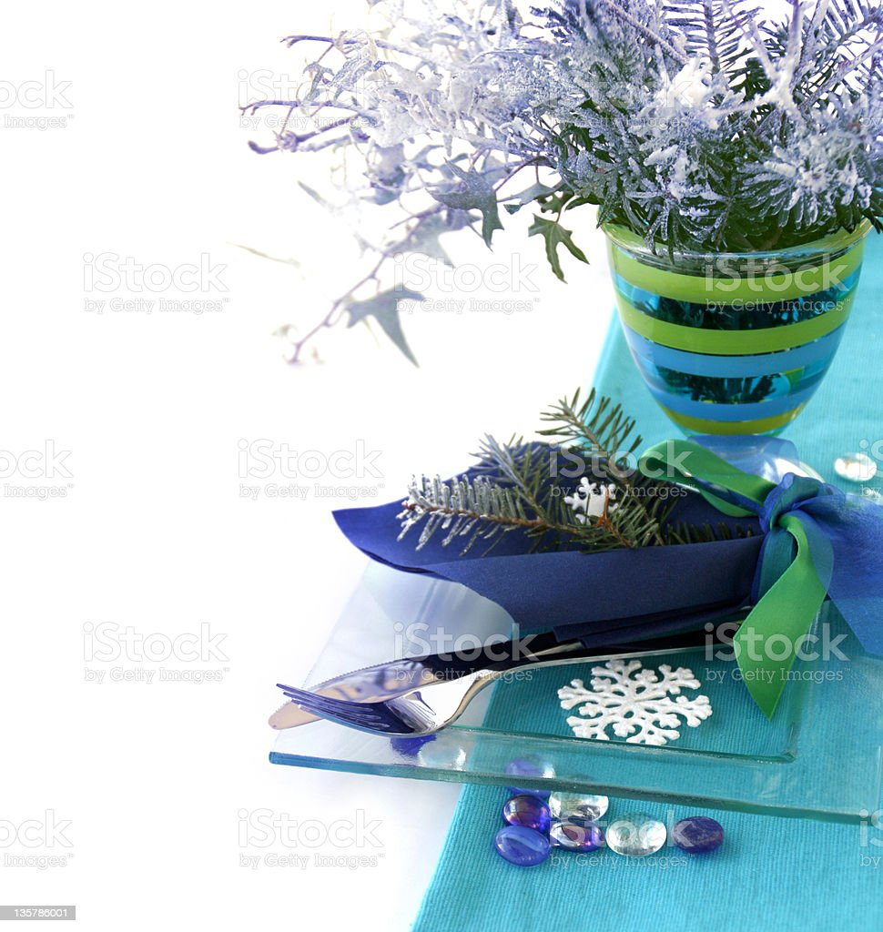 Winter table decoration royalty-free stock photo