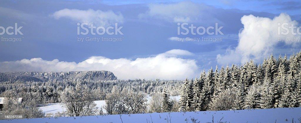 Winter Table Mountain, Poland stock photo