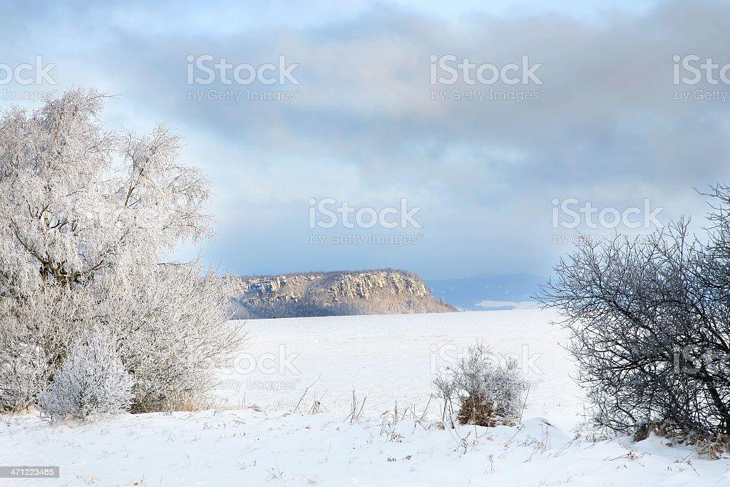 Winter Table Mountain range - Poland stock photo