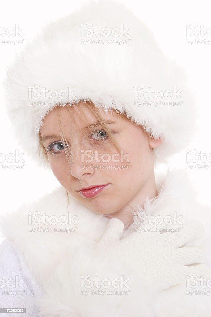 Winter Teen stock photo