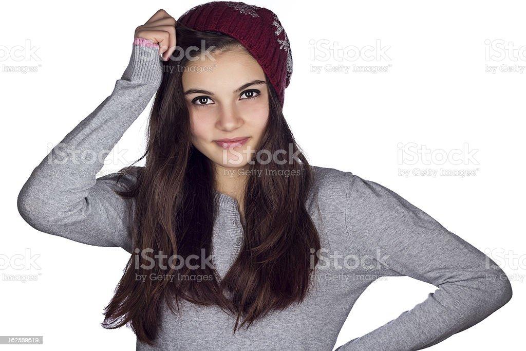 Winter Teenage Girl royalty-free stock photo