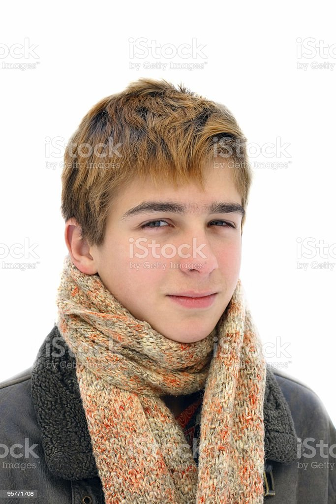 winter teenager portret royalty-free stock photo