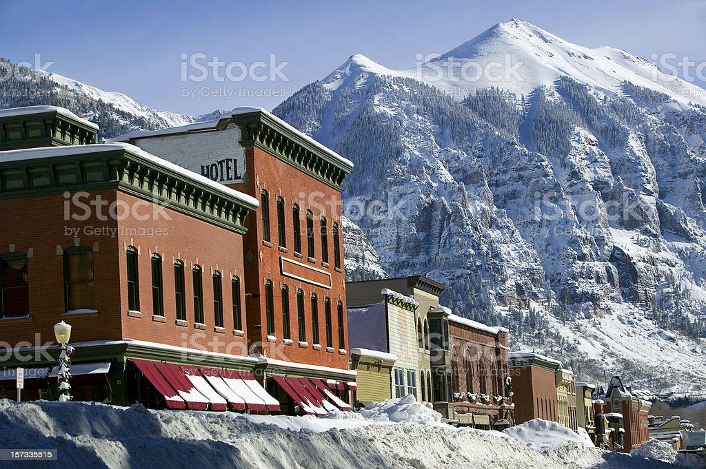 Winter Telluride Colorado royalty-free stock photo