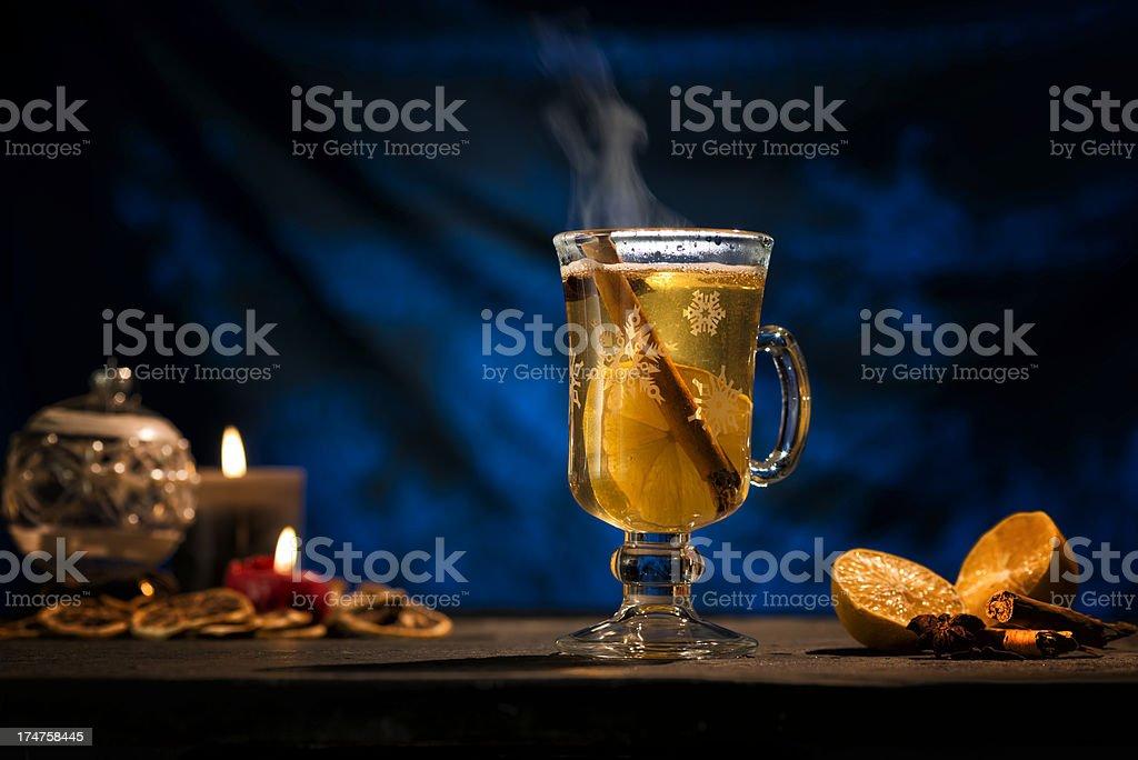 Winter Time, Hot Wine Punch, Gluehwein stock photo