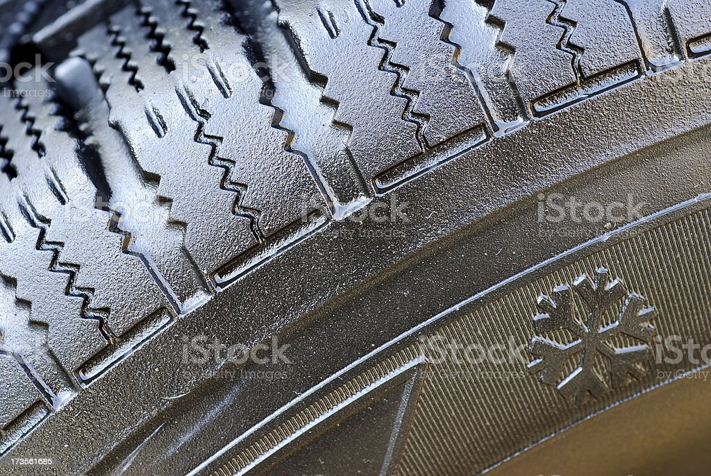 Winter tire detail royalty-free stock photo