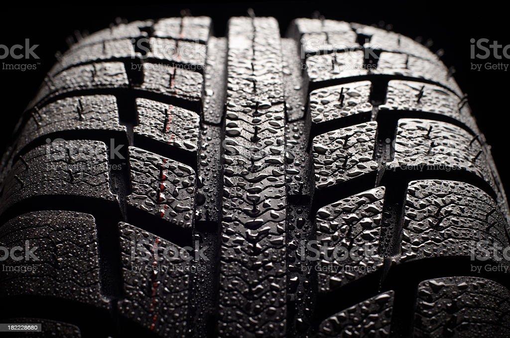 winter tire stock photo