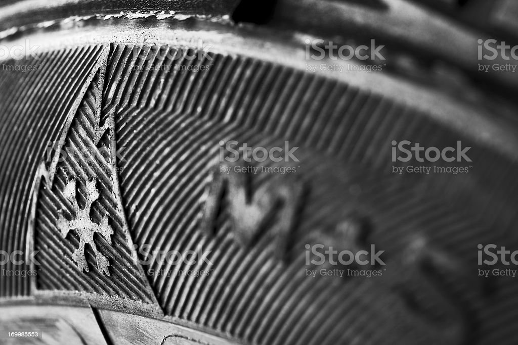 Winter Tire Sign royalty-free stock photo