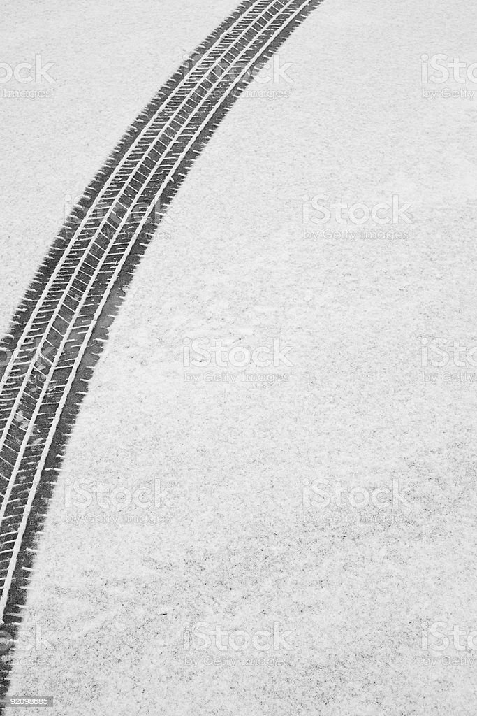 Winter Tire Track royalty-free stock photo