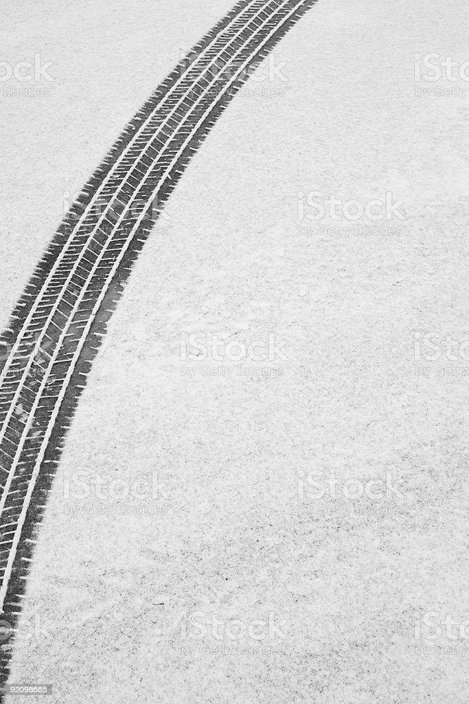 Winter Tire Track stock photo