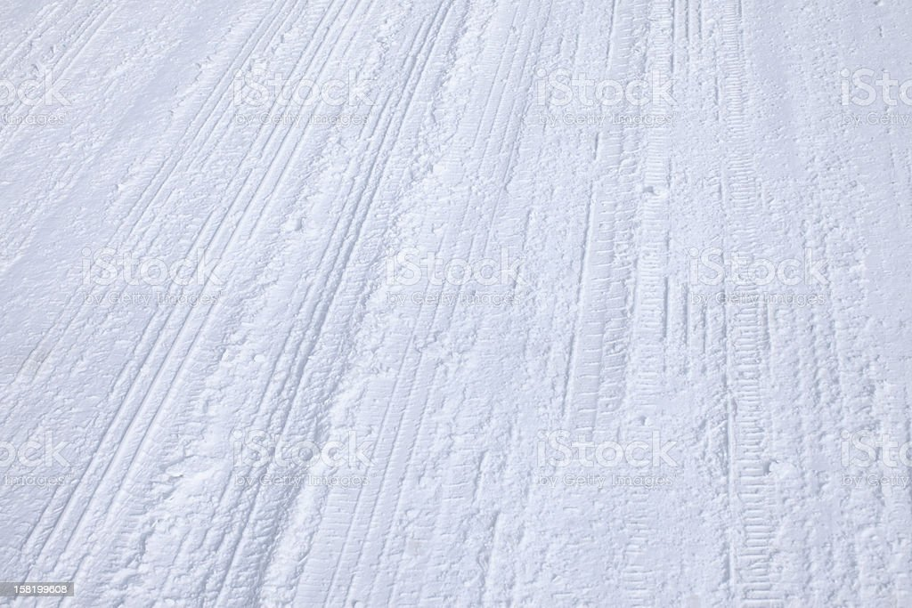 Winter Tire Tracks on Street royalty-free stock photo