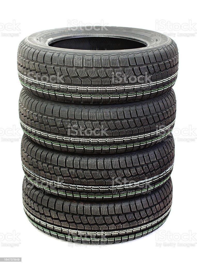 winter tire tread royalty-free stock photo
