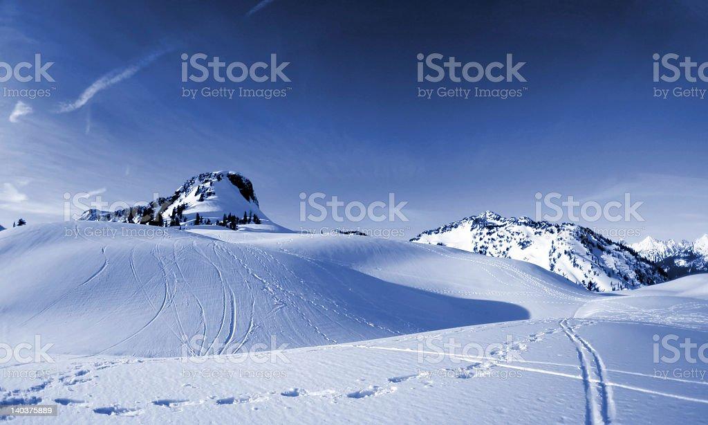 Winter Tracks royalty-free stock photo