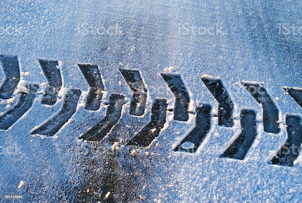 Winter Traction royalty-free stock photo