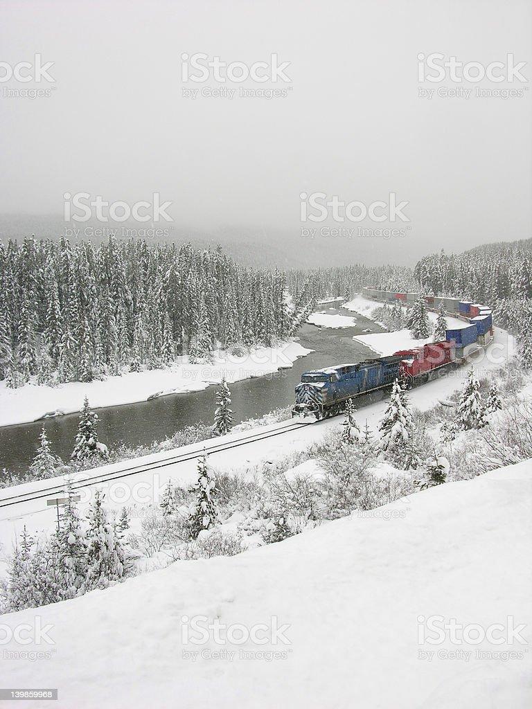 winter train royalty-free stock photo