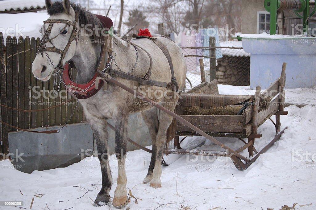 Winter transport stock photo