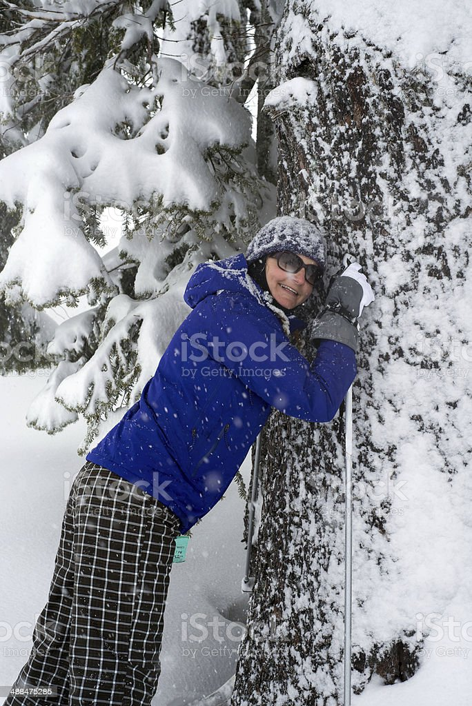 Winter tree love stock photo