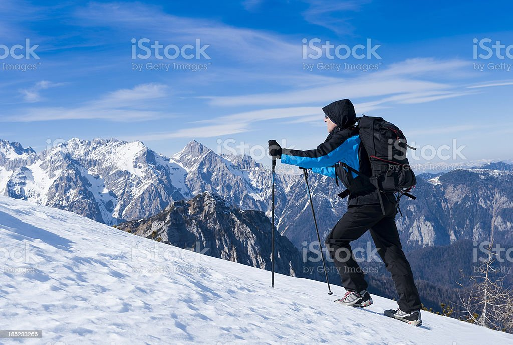 Winter trip in Julian Alps royalty-free stock photo