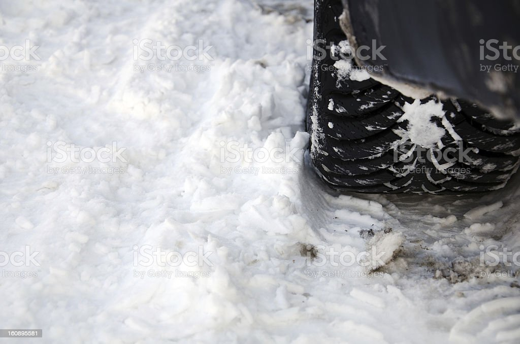 Winter tyre performance royalty-free stock photo