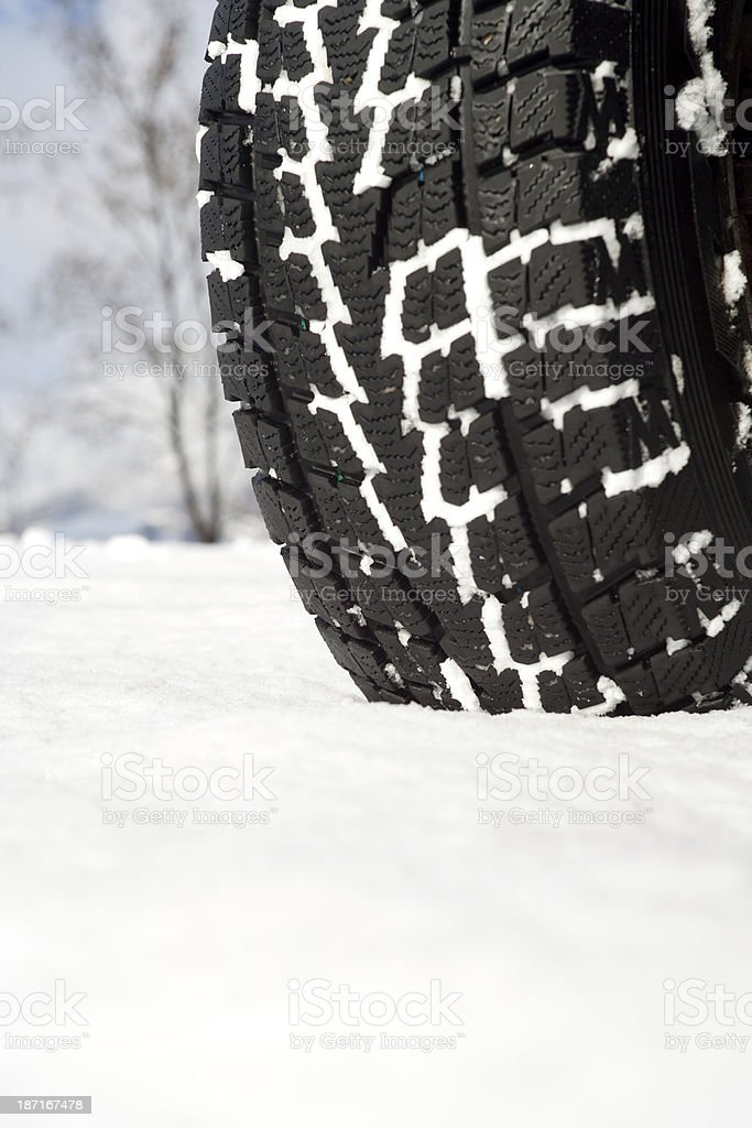 Winter Tyre royalty-free stock photo