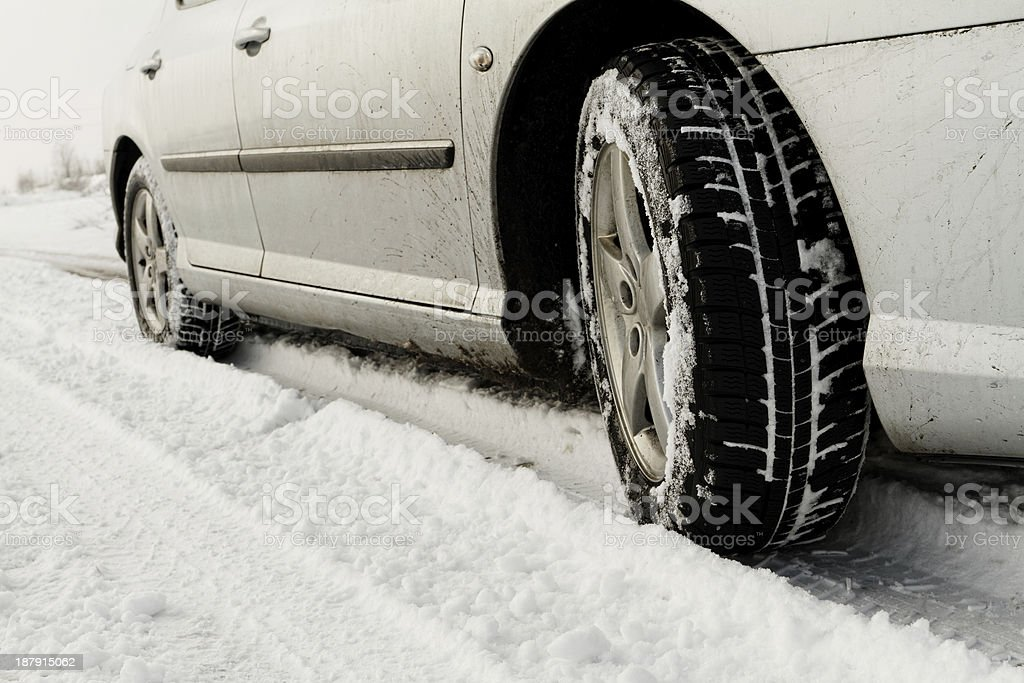 Winter tyre royalty-free stock photo