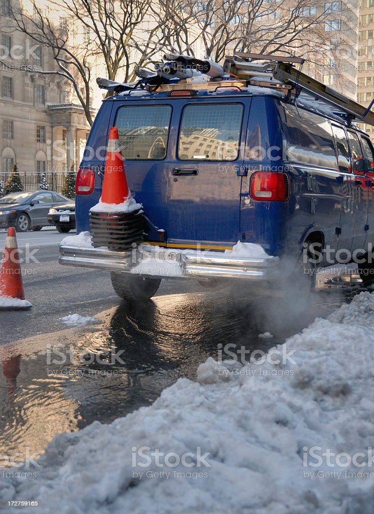 Winter Utility Van royalty-free stock photo